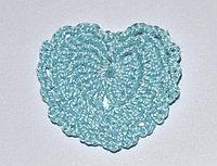 Сердце вязаное  - голубое