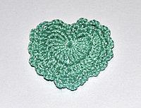 Сердце вязаное - светло-зеленое