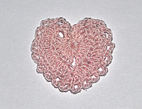 Сердце вязаное - светло-розовое