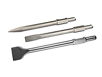 Зубило ЗУБР HEX 30 лопаточное для отбойных молотков и бетоноломов, шестигранный хвостовик 30мм, 75х450мм