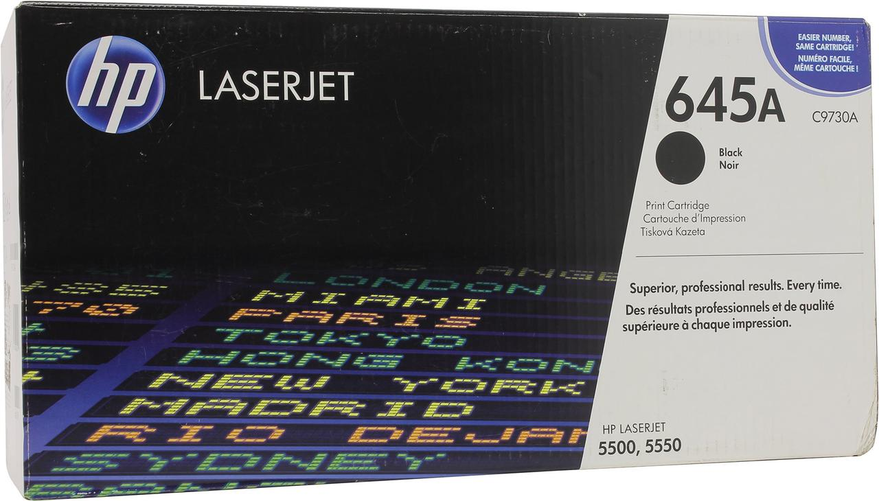 Лазерный картридж HP 645A (Оригинальный, Черный - Black) C9730A