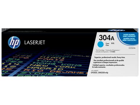 Тонер картридж HP 304A (Оригинальный, Голубой - Cyan) CC531A