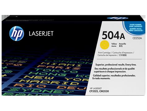 Лазерный картридж HP 504A (Оригинальный, Желтый - Yellow) CE252A