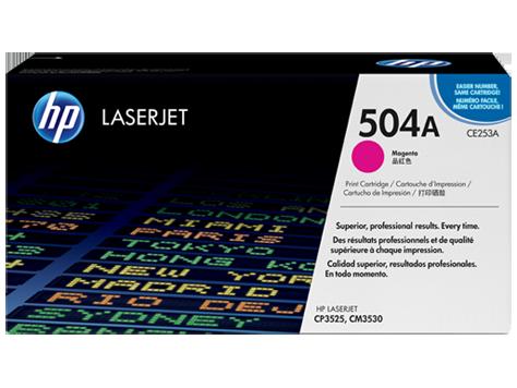 Лазерный картридж HP 504A (Оригинальный, Пурпурный - Magenta) CE253A