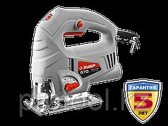 Лобзик электрический (электролобзик), ЗУБР Л-570-65, 3-х позиционный маятниковый ход, 0–3000 ходов/мин, сталь: