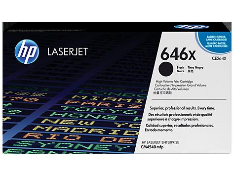 Лазерный картридж HP 646X (Оригинальный, Черный - Black) CE264X
