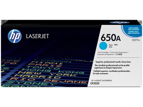 Тонер картридж HP 650A (Оригинальный, Голубой - Cyan) CE271A