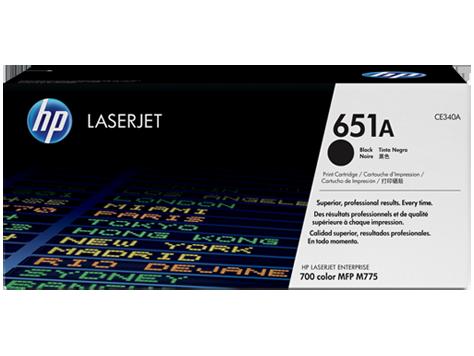 Лазерный картридж HP 651A (Оригинальный, Черный - Black) CE340A