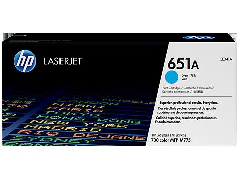 Лазерный картридж HP 651A (Оригинальный, Голубой - Cyan) CE341A
