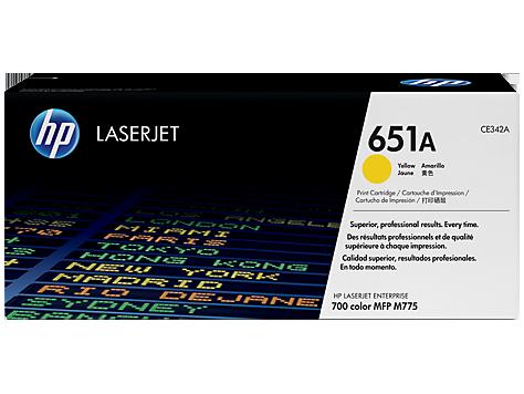 Лазерный картридж HP 651A (Оригинальный, Желтый - Yellow) CE342A