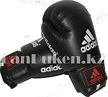 Боксерские перчатки OZ-8 черные с надписью и логотипом