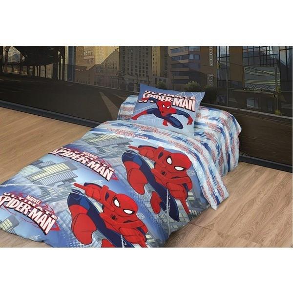 Комлект постельного белья  MARVEL - Человек паук 1,5 сп