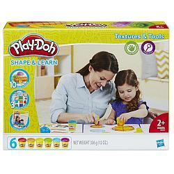"Hasbro Play-Doh ""Лепи и Изучай"" Текстуры и Инструменты"