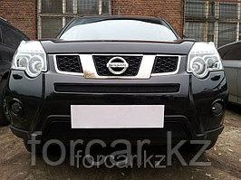 Защита радиатора Nissan X-Trail 2011- black середина
