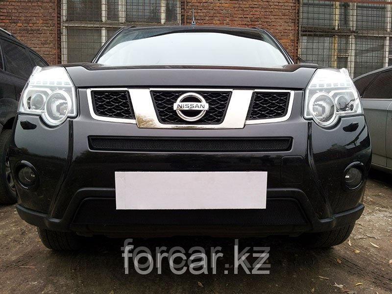 Защита радиатора Nissan X-Trail 2011- black низ