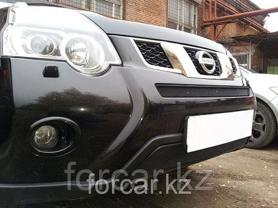 Защита радиатора Nissan X-Trail 2011- black низ, фото 2