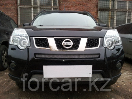Защита радиатора Nissan X-Trail  2011- chrome середина