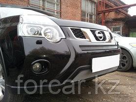 Защита радиатора Nissan X-Trail  2011- chrome середина, фото 3