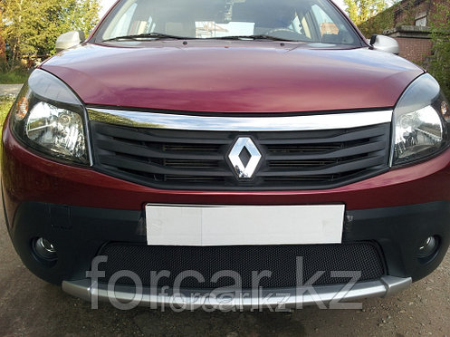 Защита радиатора Renault Sandero Stepway black, фото 2