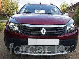 Защита радиатора Renault Sandero Stepway chrome, фото 3