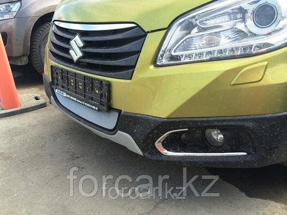 Защита радиатора Suzuki SX4 NEW 2014 - chrome, фото 2
