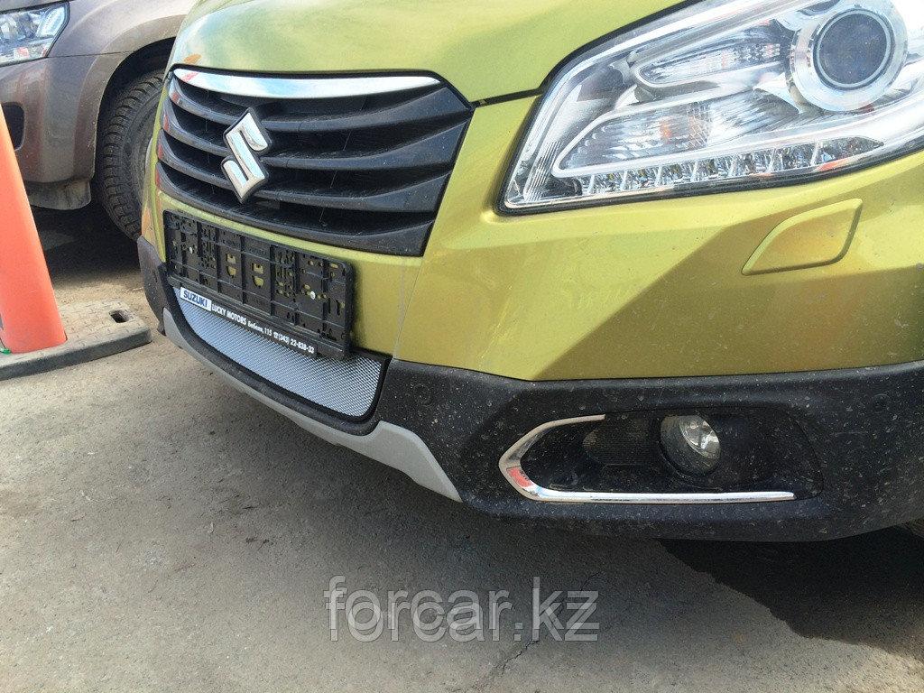 Защита радиатора Suzuki SX4 NEW 2014 - chrome