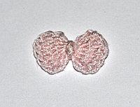Бантик вязаный - светло-розовый (2 см)
