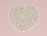 Сердце вязаное - белое