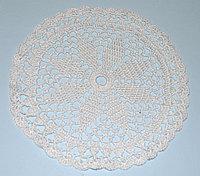Салфетка вязаная - молочного цвета (21 см)