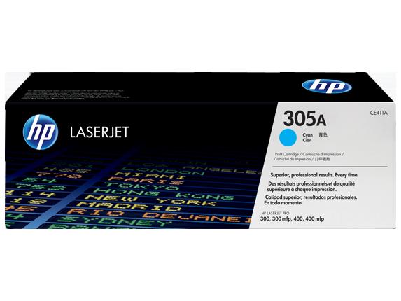 Лазерный картридж HP 305A (Оригинальный, Голубой - Cyan) CE411A