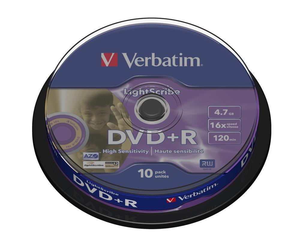 DVD+R 4.7GB Verbatim Lightscribe