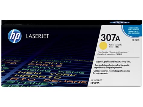 Лазерный картридж HP 307A (Оригинальный, Желтый - Yellow) CE742A