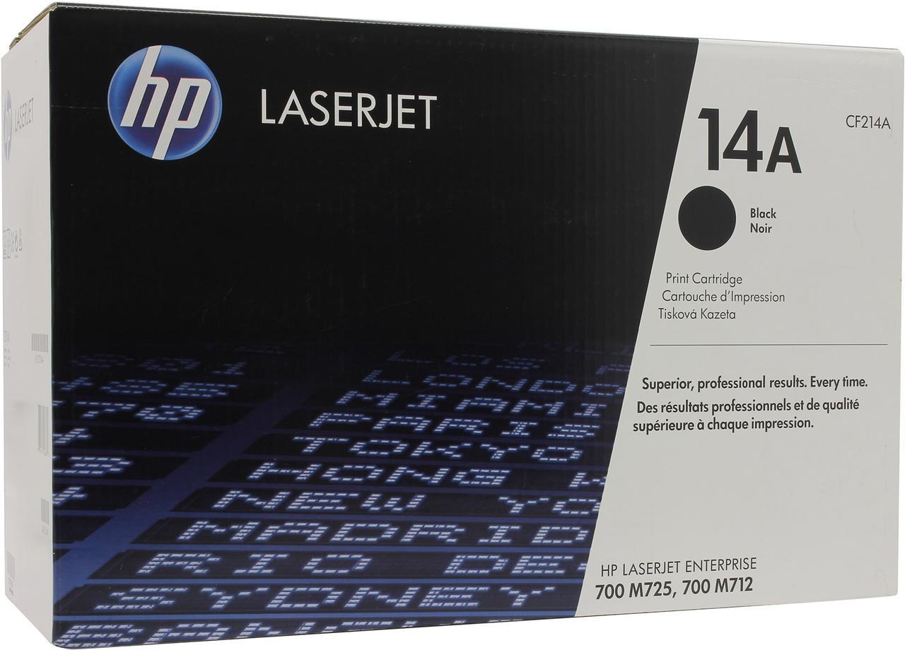 Лазерный картридж HP 14A (Оригинальный, Черный - Black) CF214A
