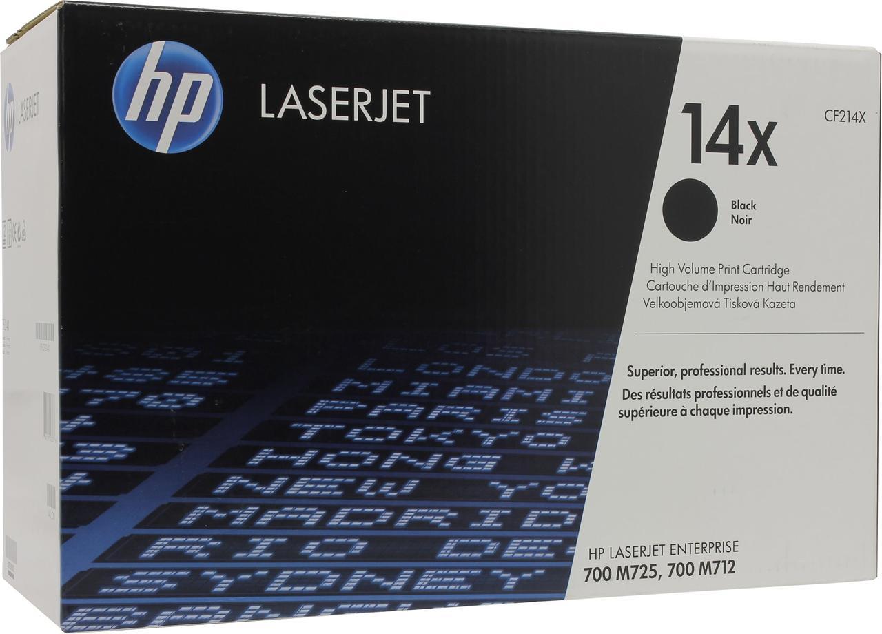 Лазерный картридж HP 14X (Оригинальный, Черный - Black) CF214X