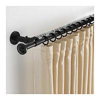 Двойной гардинный СТОРСЛАГЕН карниз, черный ИКЕА IKEA, фото 1