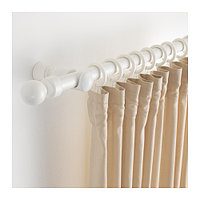 Гардинный карниз ПОРТИОН с аксессуарами, белая морилка  ИКЕА IKEA, фото 1