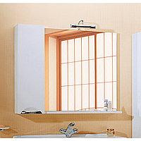 Панель с зеркалом Aqwella Лайн 100 со светильником и шкафчиком