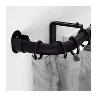 Угловое соединен ХУГАД гардинного карниза, черный ИКЕА IKEA, фото 1