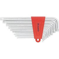 Набор ключей имбусовых TORX, 9 шт: T10-T50,  CrV, удлиненные, сатин. MATRIX 12306