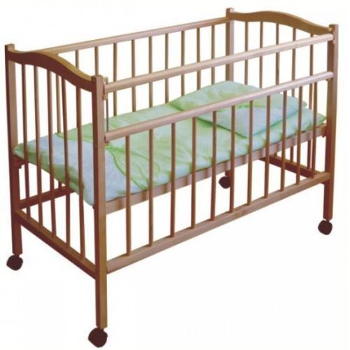 """Кровать детская Фея """"203"""", (медовый), состав - дерево (береза), колёса"""