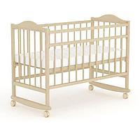 """Кровать детская Фея """"204"""", (бежевый), состав - дерево (береза), колёса"""