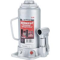 Домкрат гидравлический бутылочный, 15 т, h подъема 230–460 мм MATRIX MASTER 50729