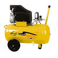 Компрессор воздушный 206 л/мин, PC 1/50-205, 1,5 кВт, 50 литров рисивер, DENZEL 58066