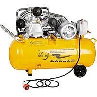 Компрессор, произв. 504 л/м, PC 3/100-504, масляный, ременный, мощность 3 кВт, DENZEL, 58098