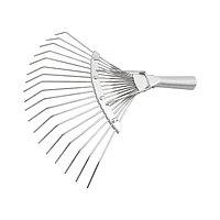 Грабли веерные 18 зубьев, без черенка, оцинкованные, круглый зуб, СИБРТЕХ, 61780