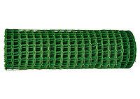 Заборная решетка в рулоне, ширина 2 метра, длина 25 метра, ячейка 50х50 мм - зелёная  64541