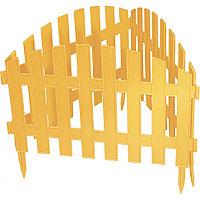 "Забор декоративный серия ""Ампир"", 28 х 300 см, цвет желтый, PALISAD, 65010"