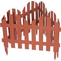 "Забор декоративный серия ""Ренессанс"", 28 х 300 см, цвет терракот, PALISAD, 65025"