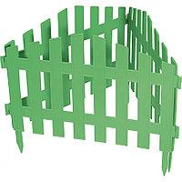 """Забор декоративный серия """"Барокко"""", 28 х 300 см, цвет зеленый, PALISAD, 65030"""