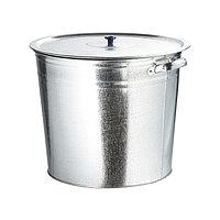Бак для воды 32 литра, оцинкованный с крышкой (крышка с ручкой), без крана, 67549